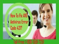 Dial 1-800-559-7251 To Fix AVG Antivirus Error Code 421