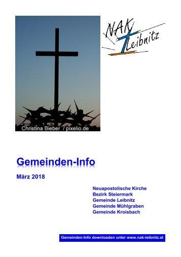 Gemeindeinfo März 2018