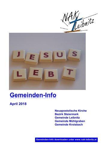 Gemeindeinfo April 2018