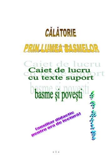 CĂLĂTORIE PRIN LUMEA BASMELOR