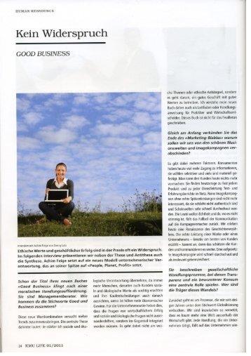 KMU Life-Magazin, 0I/2011 - Achim Feige