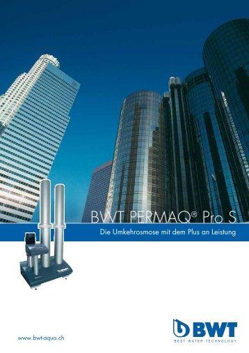 BWT PERMAQ® Pro S - CHRIST AQUA AG