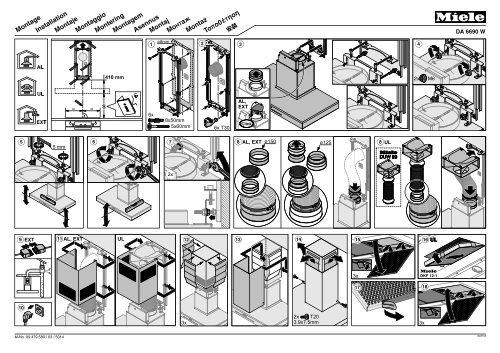Miele DA 6708 D Aura Edition 6000 - Plan de montage