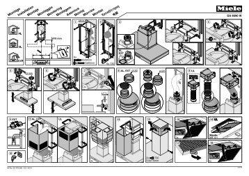 Miele DA 4248 V D Puristic Varia - Plan de montage