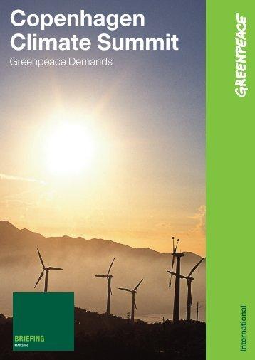 Copenhagen Climate Summit - Greenpeace