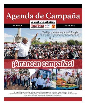 Agenda No.1 Campaña