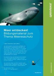 Meer entdecken! Bildungsmaterial zum Thema ... - Greenpeace