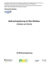 Beikrautregulierung im Öko-Obstbau – Verfahren ... - Oekolandbau.de