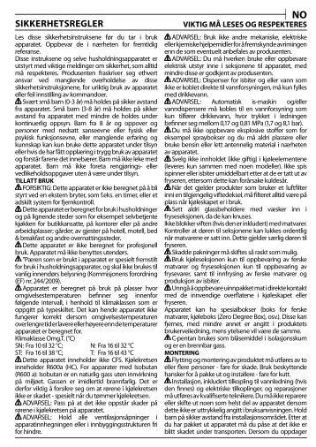 KitchenAid S 12 A1 D/I - S 12 A1 D/I NO (F093708) Health and safety