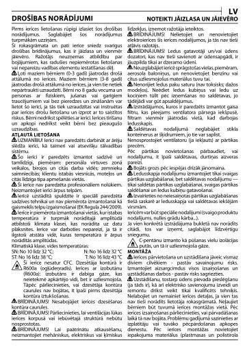 KitchenAid S 12 A1 D/I - S 12 A1 D/I LV (F093708) Health and safety