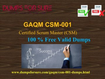 free CSM-001 braindumps