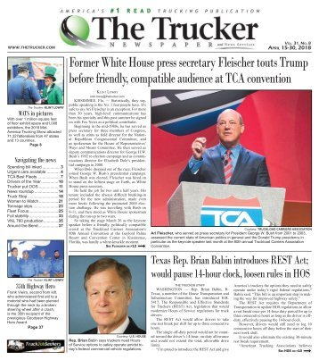 The Trucker Newspaper - April 15, 2018
