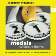 Medaillen individuell mit Gravur