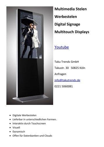 Multimedia Stelen Werbestelen Digital Signage