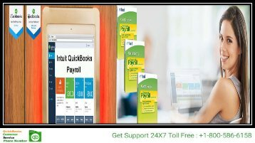 Quickbooks Payroll Support @1-800-586-6158