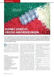 kleines gewicht, grosse anforderungen - CKT GmbH, Mittweida