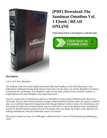 [PDF] Download The Sandman Omnibus Vol. 1 Ebook  READ ONLINE