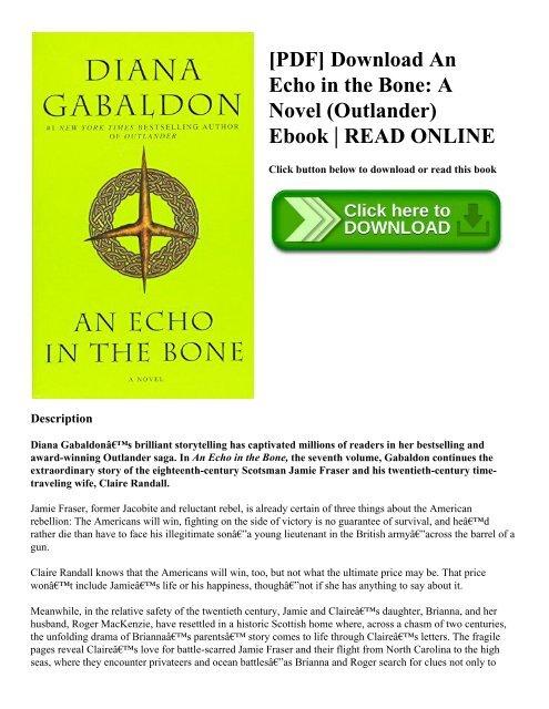 Pdf Download An Echo In The Bone A Novel Outlander Ebook Read Online