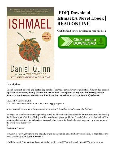 Ishmael Daniel Quinn Ebook