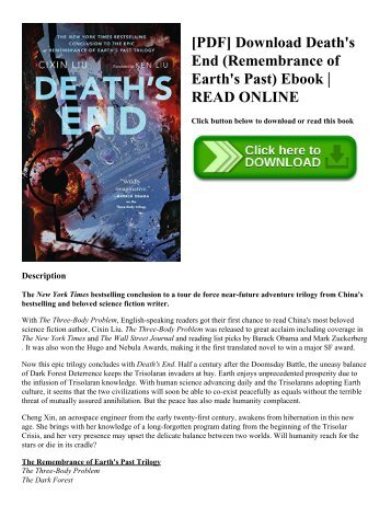 [PDF] Download Death's End (Remembrance of Earth's Past) Ebook  READ ONLINE