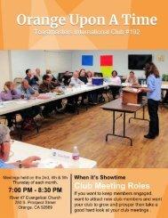 Draft - Club Meeting Roles
