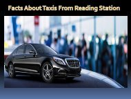 Facts about Taxis from Reading Station