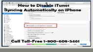 1-800-608-5461|How to Disable iTunes Syncing Automatically on iPhone?