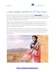 Lovely Udaipur Call Girls to fill Your Heart (1)