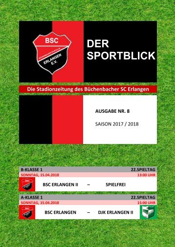 Der Sportblick (Ausgabe Nr. 08 | 17/18)