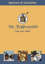 Die Speisekarte vom Café