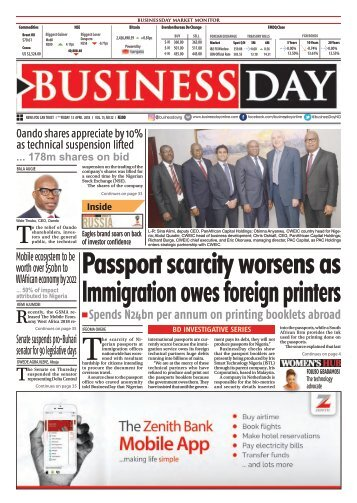 BusinessDay 13 April 2018