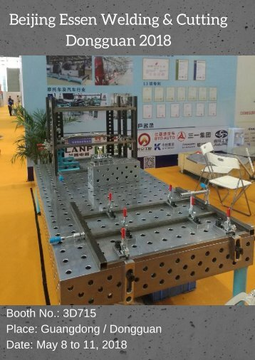 DCT welding tables at Essen Welding & Cutting  08. May to 11. May 2018