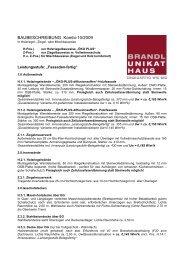 BAUBESCHREIBUNG Kombi-10/2009 - Brandl-Bau