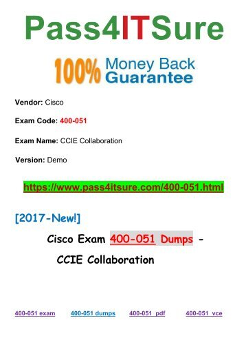 New Pass4itsure Cisco 400-051 Dumps PDF 615Q