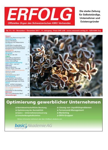 Erfolg_Ausgabe Nr. 11-12 - Nov/Dez 2017
