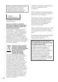 Sony CDX-GT560UI - CDX-GT560UI Mode d'emploi Espagnol - Page 2
