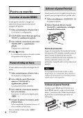 Sony CDX-GT560UI - CDX-GT560UI Mode d'emploi Espagnol - Page 4