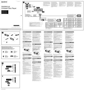 Sony CDX-GT560UI - CDX-GT560UI Guide d'installation Italien