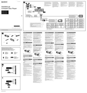 Sony CDX-GT560UI - CDX-GT560UI Guide d'installation Allemand