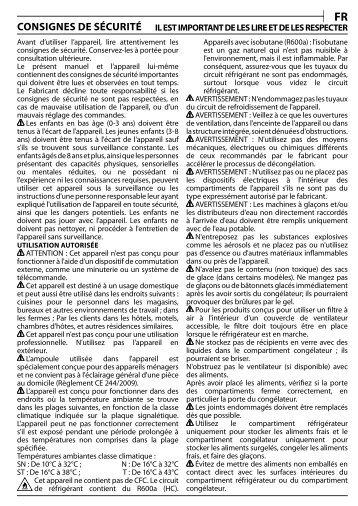 KitchenAid T 16 A1 D S/HA - T 16 A1 D S/HA FR (F093241) Health and safety