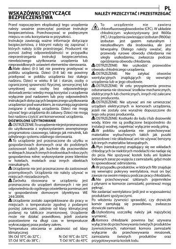 KitchenAid T 16 A1 D S/HA - T 16 A1 D S/HA PL (F093241) Health and safety