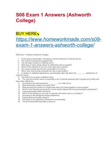S08 Exam 1 Answers (Ashworth College)