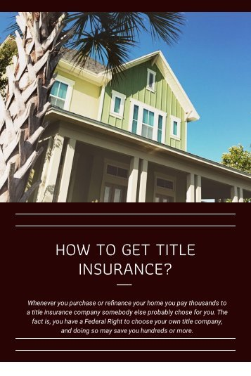 How to Get Title Insurance?