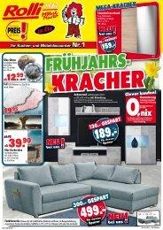 Frühjahrs-Kracher bei Rolli SB-Möbelmarkt, 65604 Elz bei Limburg