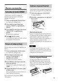 Sony CDX-GT44U - CDX-GT44U Mode d'emploi Espagnol - Page 5