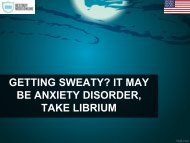 GETTING SWEATY IT MAY BE ANXIETY DISORDER, TAKE LIBRIUM