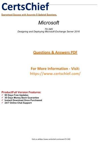 70-345 Actual Exam Questions 2018