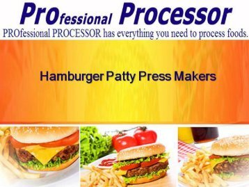 Best Hamburger Patty Presses Only on ProProcessor.com