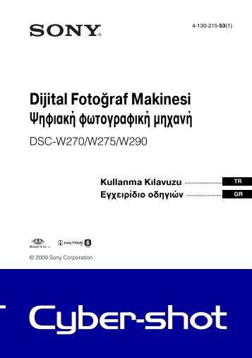 Sony DSC-W270 - DSC-W270 Consignes d'utilisation Turc