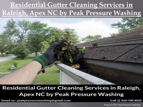 Residential Gutter Cleaning Services in Raleigh, Apex NC by Peak Pressure Washing